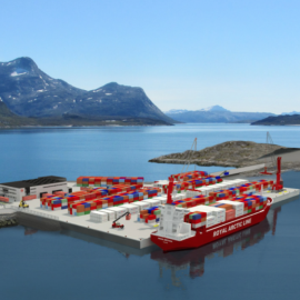 Model of the container port in Nuuk