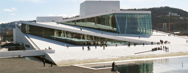 The Oslo Opera House, view from south-western quay